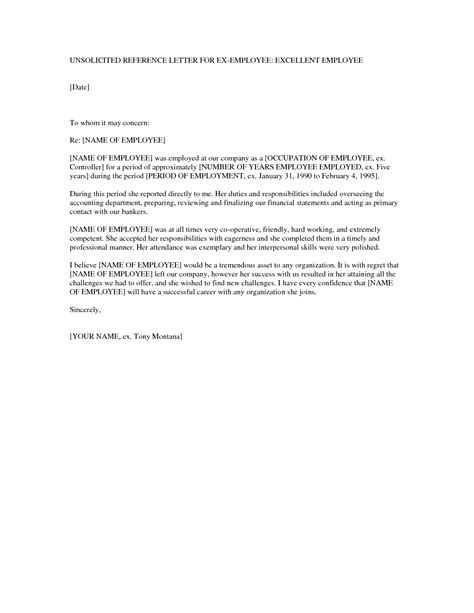 Reference Letter For Former Employee Template Best Photos Of Generic Employee Recommendation Letter