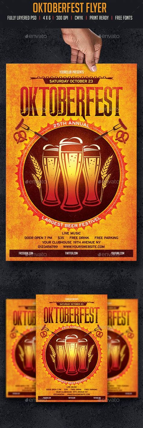 Oktoberfest Flyer Flyer Template Template And Event Flyers Flyer Template 2