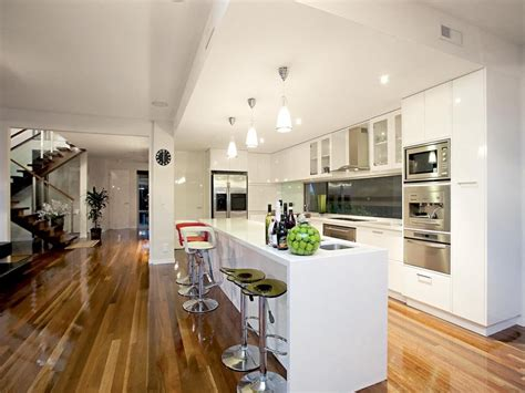 australian kitchen design floorboards in a kitchen design from an australian home