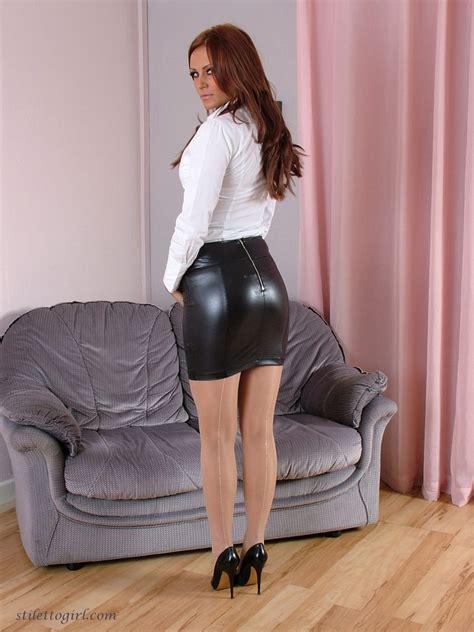 tight leather dress and high heels images