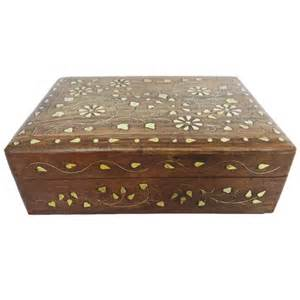decorative vintage style small wooden jewelry wood box
