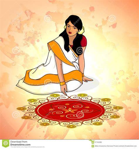 Mavali Dress creative illustration for onam festival celebration royalty free illustration cartoondealer