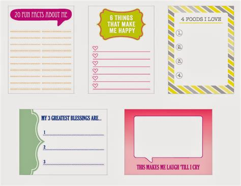 printable journaling tags pink paper cottage free printables for january journal