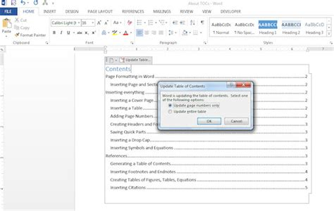 create table of contents in word the easy way to create a table of contents in word