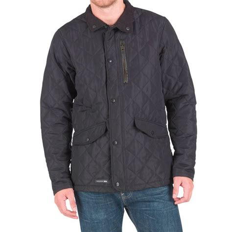Mens Patchwork Jacket - trespass mens argyle quilted jacket black