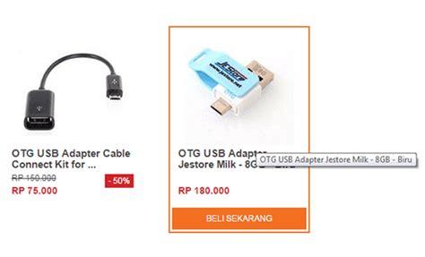 Kabel Otg Biasa usb otg pengganti memori eksternal dengan harga murah jalantikus