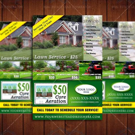 16 beautiful pictures of lawn care flyer template resume template