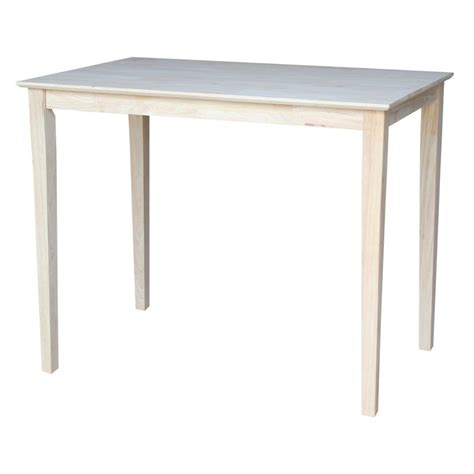 Unfinished Bar Table International Concepts Unfinished Skirted Pub Bar Table K 3048 42s The Home Depot