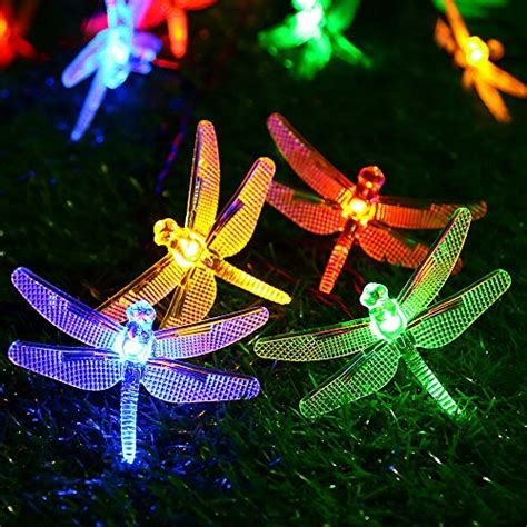 Dragonfly Outdoor Lights Solar Outdoor String Lights By Apexpower 8 Modes 20led Dragonfly Waterproof Ebay