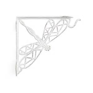 dragonfly cast iron hanging plant shelf bracket outdoor
