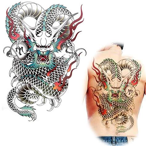 tattoo naga china tato naga besar beli murah tato naga besar lots from china