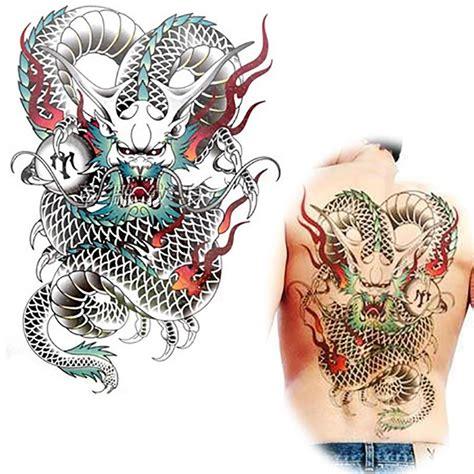 tattoo naga 3d tato naga besar beli murah tato naga besar lots from china