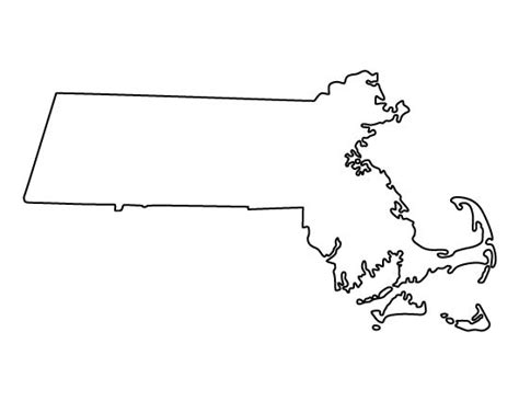 template of state massachusetts pattern use the printable outline for crafts creating stencils scrapbooking