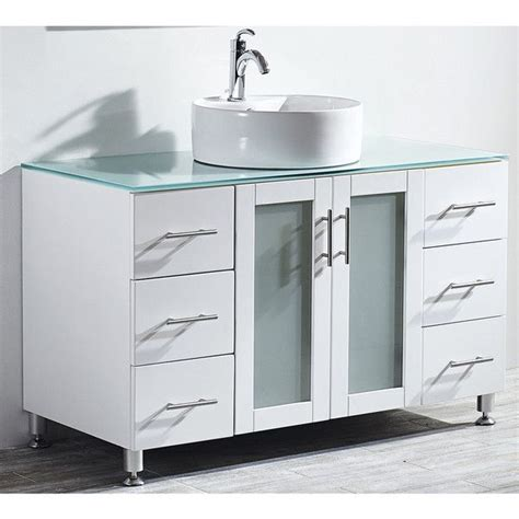 vinnova tuscany 48 inch single vanity in white with