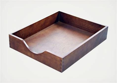 carver wood desk tray goods the wooden workspace cool material