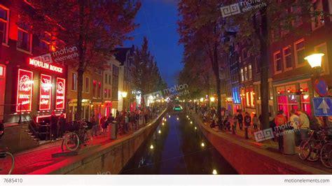 manila light district light district amsterdam stock footage