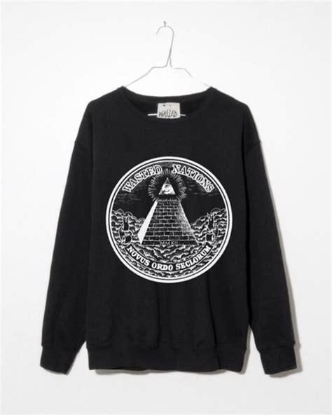 illuminati sweater sweater sweatshirt illuminati black wheretoget