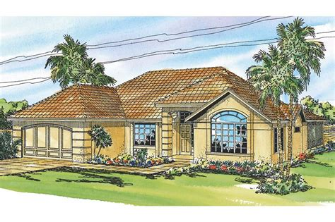Mediterranean House Design by Mediterranean House Plans Pereza 11 075 Associated Designs