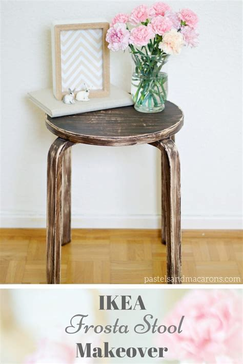 a quick and easy ikea step stool makeover ikea frosta stool rustic makeover