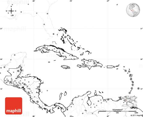 blank map central america caribbean islands best photos of blank map of the caribbean blank map