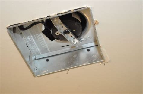retrofit bathroom fan how to install a retrofit bathroom vent fan one project