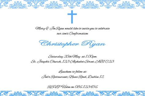 confirmation invitations templates free free confirmation invitations