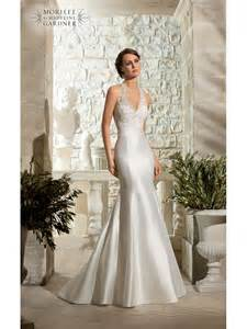 mori lee 5311 lace halterneck fishtail gown designer back
