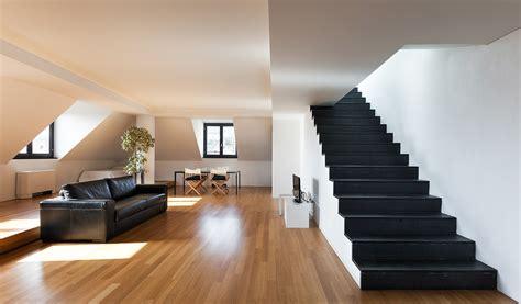 moderne len wohnzimmer escalier en bois d 233 co solutions