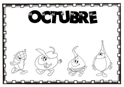 imagenes del mes de octubre para colorear esos locos bajitos de infantil carteles para colorear de