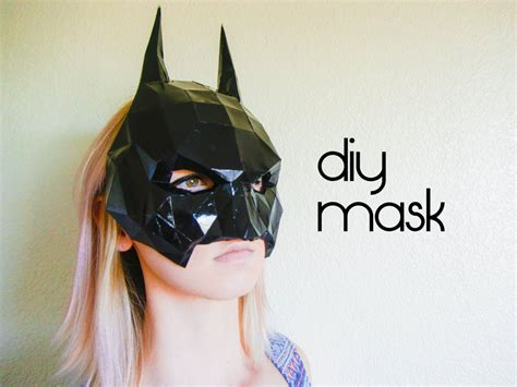 Papercraft Costumes - batman mask make your own with a pdf batman