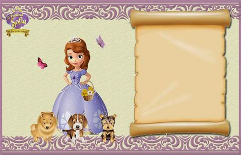 princess sofia template sofia the free printable invitations or photo frames