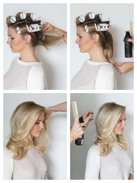 hairstyles for short hair using rollers how to hot roll your hair b e a u t y pinterest hot