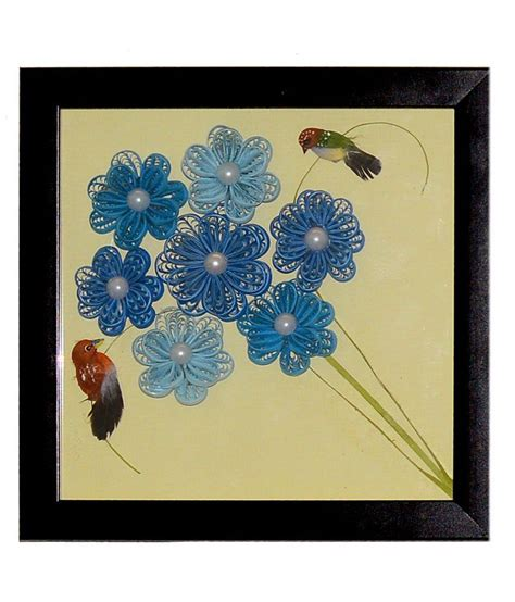 Handmade Decorative Paper - handmade paper quilling wall decorative frame with glass