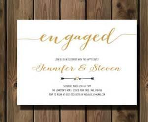 engagement invitation engagement invite engagement dinner couples shower diy