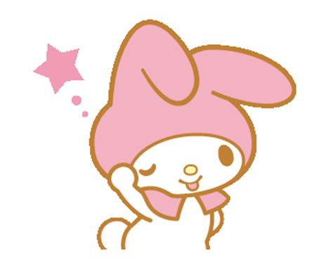 themes line my melody line official stickers my melody animated stickers