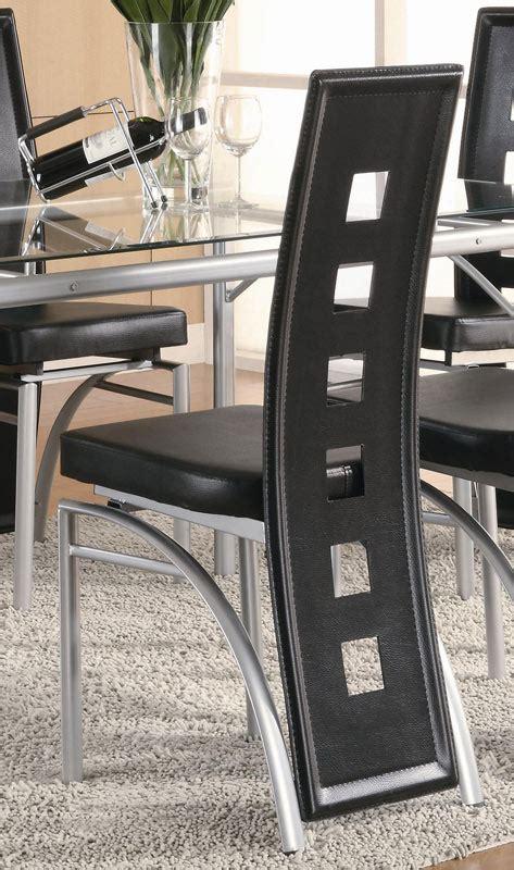 dining coaster los feliz black metal chair coaster fine coaster los feliz dining chair black 101682 at