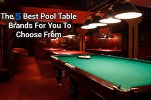 the 5 best pool table brands for you to choose from in