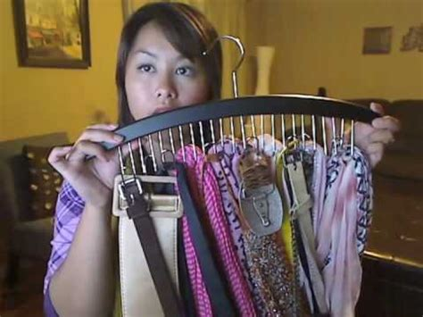 Youtube How To Organize Your Closet - how to organize your scarves youtube