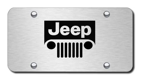 Jeep Tags Jeep Logo License Plates Vanity Logo Tags Laser Etched
