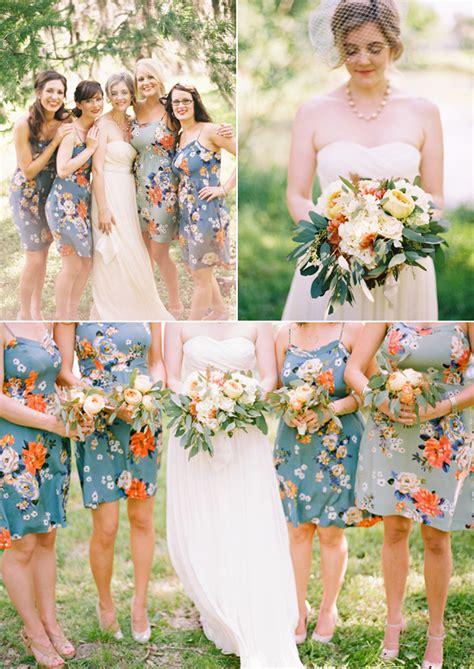 flower pattern bridesmaid dresses jen jared floral bridesmaid dresses floral and weddings