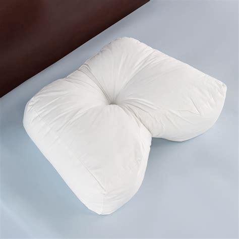 Pillows Side Sleepers the side sleeper s ergonomic pillow hammacher schlemmer