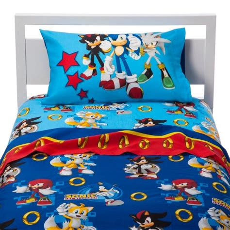 sonic bedding sonic the hedgehog sheet set twin target