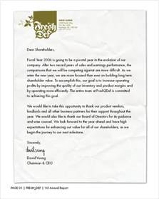 Report Letter Sample Annual Report Cover Letter Examples Images