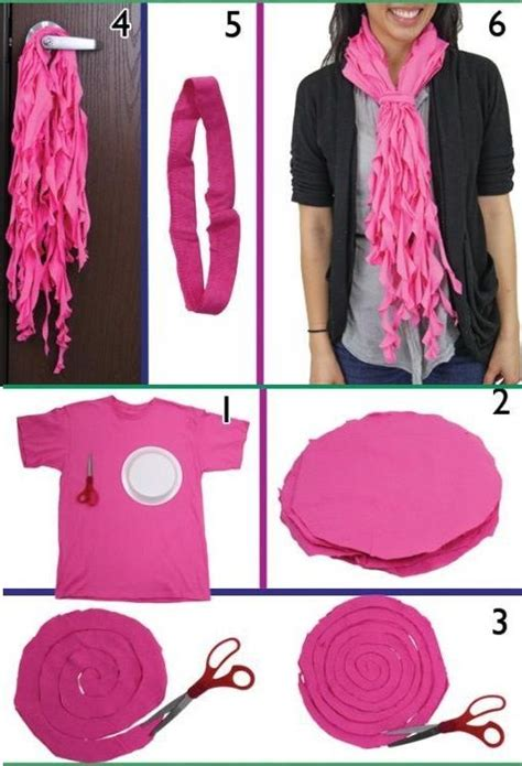 trendy ruffled scarves out of t shirts diy t