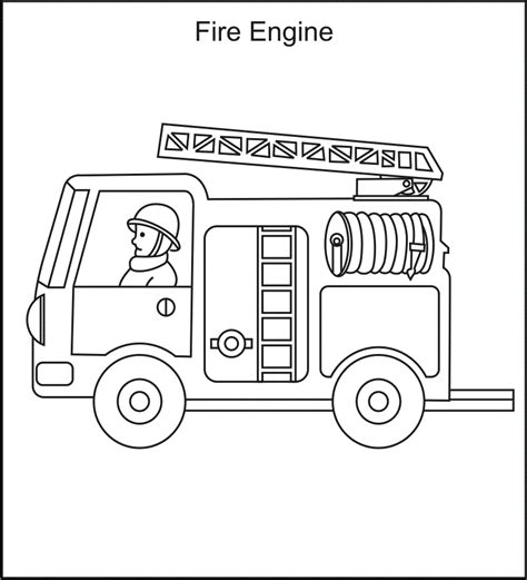 fire truck coloring page coloring home