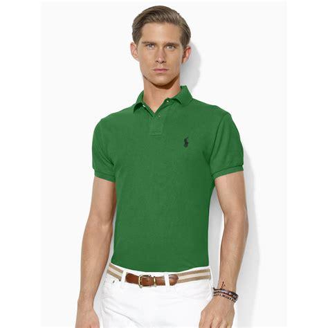 Polo Shirt Polo Raphl Custom Tshirt Polo ralph custom fit polo shirt in green for lyst