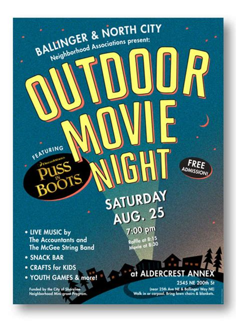 Backyard Movie Night 187 All For The Garden House Beach Backyard Outdoor Flyer Template