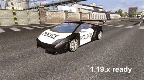 american police lamborghini lamborghini police ai traffic car mod for 1 19 x euro