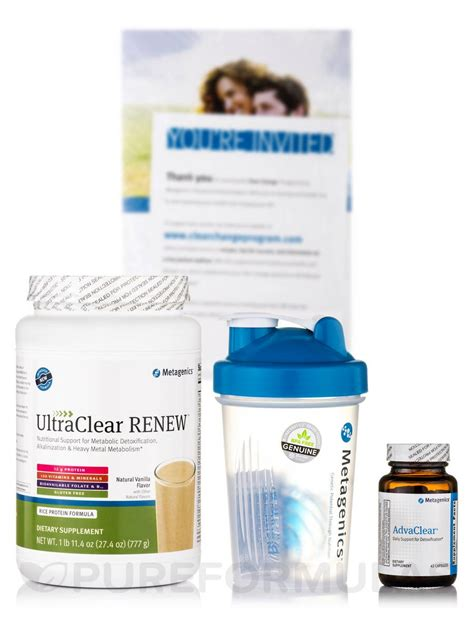 Metagenics Detox Plan by Clear Change With Ultraclear Renew Vanilla 10 Day Program
