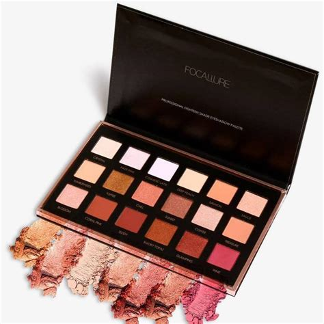 focallure metallic day to 18 color eyeshadow palette